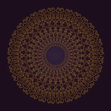 Abstract luxury background with golden mandala design stock images