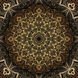Golden mandala stock illustration