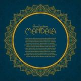 Golden mandala pattern design template. Vintage Stock Image