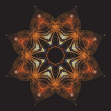 Golden mandala with sparkles on a dark background. Vector pattern for your creativity Stock Photography
