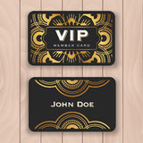 Golden mandala VIP access card Stock Image