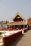 The Golden Mandalay Palace. The golden palace is in the center of Mandalay Palace in Mandalay, Myanmar stock image