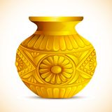 Golden Mangal Kalash. Illustration of golden mangal kalash for hindu festival Stock Photos