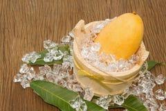 Golden mango thai fruit dessert Royalty Free Stock Image