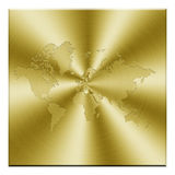 Golden map. Button isolated in white Royalty Free Stock Photos