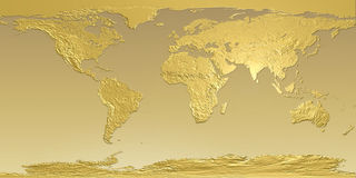 Free Golden Map Of Earth Stock Photo - 13751570