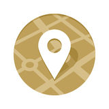 Golden Map Point Icon Royalty Free Stock Photo