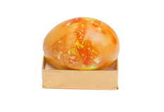 Golden marble egg isolated Stock Images