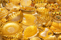 Golden market in Dubai Stock Images