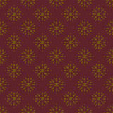 Golden and Maroon Damask Seamless Pattern. Damask seamless pattern with golden design over coarse maroon background royalty free illustration