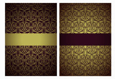 Golden and marsala greetings Royalty Free Stock Photo