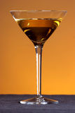 Golden martini. Celebrate with a golden martini Stock Images