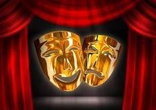 Golden mask Stock Image