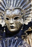 Golden mask. Historic carnival with a beautiful golden mask Royalty Free Stock Photography