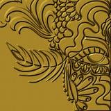 Golden mask Royalty Free Stock Image