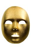 Golden mask. Golden masquerade mask on a white background Royalty Free Stock Photos