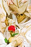 Golden Mask. Stock Photo