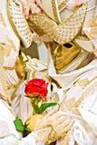 Golden Mask. Stock Photo