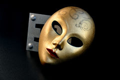 Golden mask. Royalty Free Stock Photography