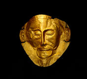 The golden mask of Agamemnon Stock Photography