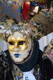 Golden mask with decorations, Venice, Italy, Europe, close up Royalty Free Stock Photos