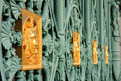 Golden mask  - Royal Palace in Turin, Italy Stock Image