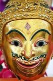 Golden mask of Thai literature Royalty Free Stock Photos
