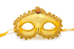 Golden mask   on  white Royalty Free Stock Image
