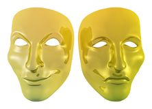 Golden Masks Royalty Free Stock Photo