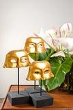 Golden masks Royalty Free Stock Photo