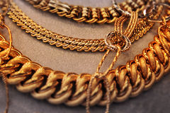 Golden Massive Necklace Royalty Free Stock Photo