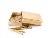 Golden matches Royalty Free Stock Photos
