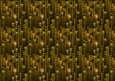 Golden matrix symbols, digital binary code on black background a4 size Royalty Free Stock Photos