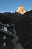 Golden Matterhorn Royalty Free Stock Image