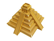 Golden mayan pyramid Royalty Free Stock Image