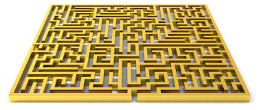 Golden maze Royalty Free Stock Photo