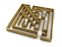 Golden maze Royalty Free Stock Photos