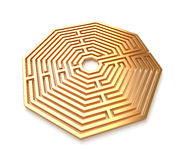 Golden maze  Royalty Free Stock Image