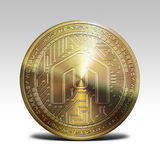 Golden mcap coin isolated on white background 3d rendering. Illustration Stock Photography