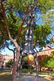 Golden Mean - Carole Feuerman. Sculpture by Carole Feuerman pictured in the Giardini Della Marinaressa in Venice stock images
