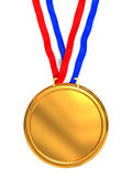 Golden medal. 3d illustration of golden medal isolated over white background Royalty Free Stock Image