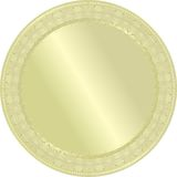 Golden medal. Royalty Free Stock Image