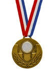 Golden medal. Isolated on white Stock Photography
