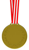 The golden medal Stock Photo