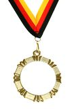 golden medal with empty space and ribbon isolate Stock Photography
