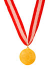 Golden medal isolated Stock Images