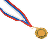 Golden Medal Isolated On White Royalty Free Stock Image