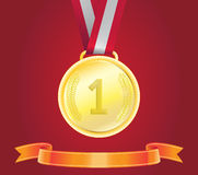 Golden Medal, Vector Royalty Free Stock Photography