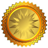 Golden medal (vector). Golden big medal on white background (vector vector illustration