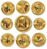 Golden medal wine design Stock Photos